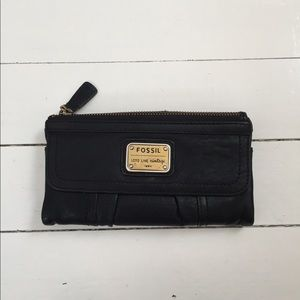 Black Fossil Wallet